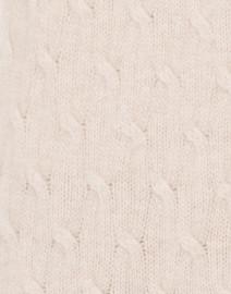 Cortland Park - Sophie Beige Cable Knit Cashmere Cardigan