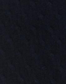 Cortland Park - Sophie Navy Cable Knit Cashmere Cardigan