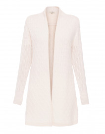 Sophie Ivory Cable Knit Cashmere Cardigan