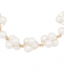 Deborah Grivas - White Pearl Woven Necklace