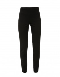 Black Stretch Side-Zip Tapered Pant