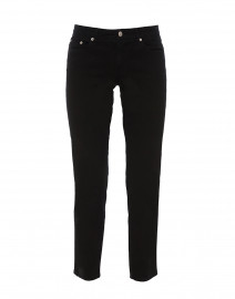 Black Stretch Cotton Twill Jeans