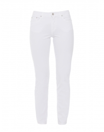 White Stretch Cotton Twill Jeans