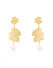Duo Sigrid Gold and Pearl Drop Earring