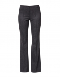 Ros Charcoal Grey Jersey Knit Flared Pant