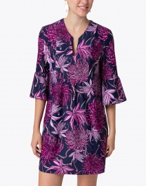 Jude Connally - Kerry Pink and Navy Wildflower Printed Dress