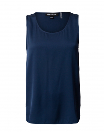 Night Blue Silk Stretch Tank