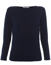Navy Pima Cotton Sweater