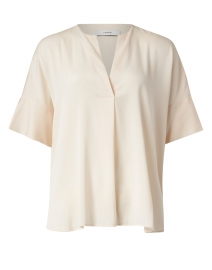 Ivory Stretch Silk Popover Blouse