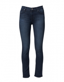 Mari Blue Black Denim Straight Leg Jean
