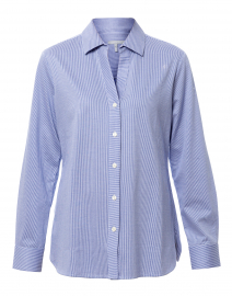 Bridgette White and Blue Striped Button Down Shirt