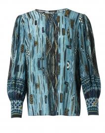 Stella Green Multi Silk Printed Blouse