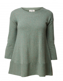 Saint Tropez Green Cashmere Swing Sweater