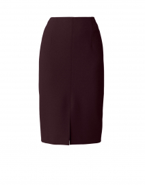 Vepeplum Aubergine Fitted Pencil Skirt