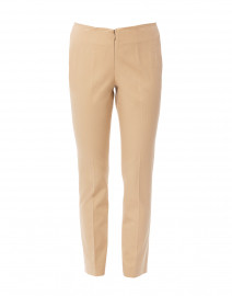 Jerry Buff Beige Stretch Cotton Pant