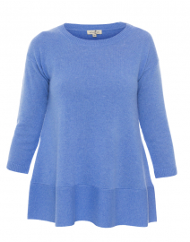 Saint Tropez French Blue Cashmere Swing Sweater