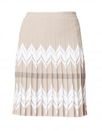 Beige Chevron Knit Skirt
