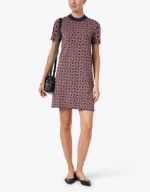 Weekend Max Mara - Agenzia Pink and Navy Print Knit Dress