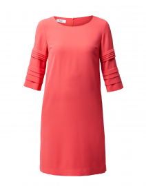 Gabi Coral Crepe Dress