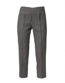 Audrey Black and White Checked Wool Pant