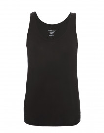 Black Stretch Viscose Tank