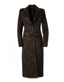 Brando Dark Leopard Wool Blend Coat