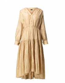 Falco Khaki Silk Habotai Shirt Dress