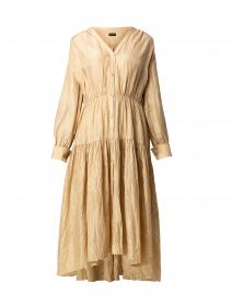 Falco Khaki Silk Habotai Shirt Dress