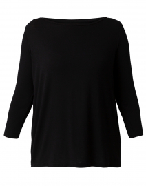 Black Stretch Viscose Top