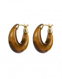 Dorthea Tigers Eye Stone Hoop Earrings