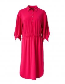 Pink Henley Stretch Shirt Dress