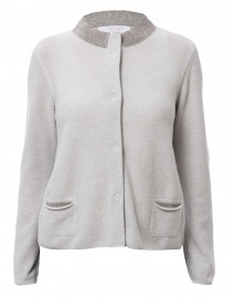 Grey Wool, Silk and Cashmere Cardigan