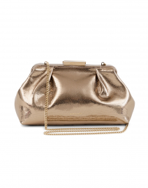 Mini Florence Gold Lizard Effect Clutch Bag