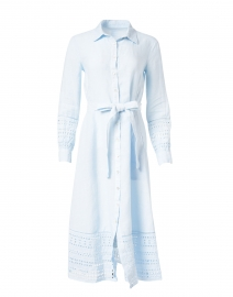 Light Blue Eyelet Linen Dress