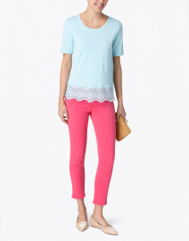 Cambio - Pina Hot Pink Super Stretch Ankle Jean
