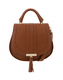 Mini Venice Cognac Pebbled Leather Cross-Body Bag
