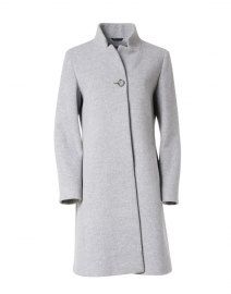 Grey Wool and Cashmere Coat