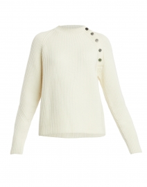 Noula White Sweater with Buttons
