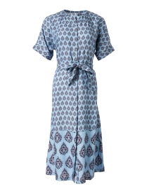 Melike Blue Buttie Print Cotton Dress