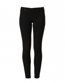 Prima Black Denim Cigarette Leg Jean
