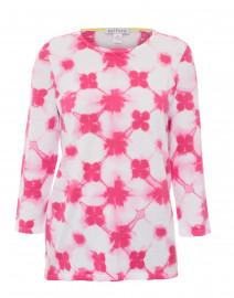 Shibori Blossom Pink Cotton Sweater