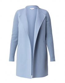 Harbor Blue Wool Cashmere Coat