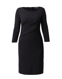 Black Stretch Milano Ruched Dress