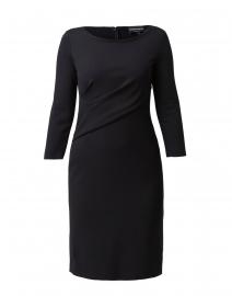 Black Stretch Milano Ruched Dress