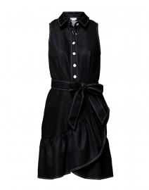 Mallory Black Stretch Denim Dress
