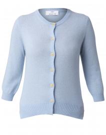 Blue Melange Cashmere Cardigan