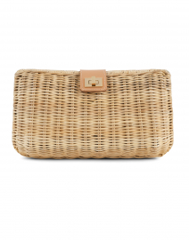 Kaine Natural Woven Wicker Clutch