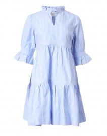 Teardrop Blue and White Striped Cotton Dress