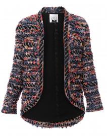 Blue and Pink Lurex Tweed Jacket