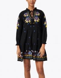 Roller Rabbit - Janni Black, Yellow and Blue Fleur Nouveau Cotton Dress